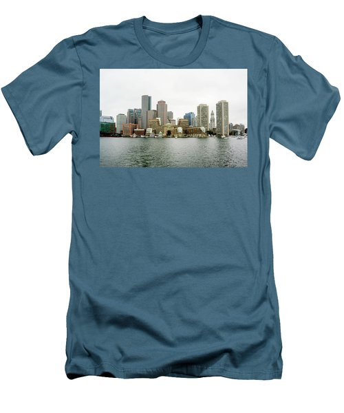 Men's T-Shirt (Slim Fit) featuring the photograph Harbor View by Greg Fortier