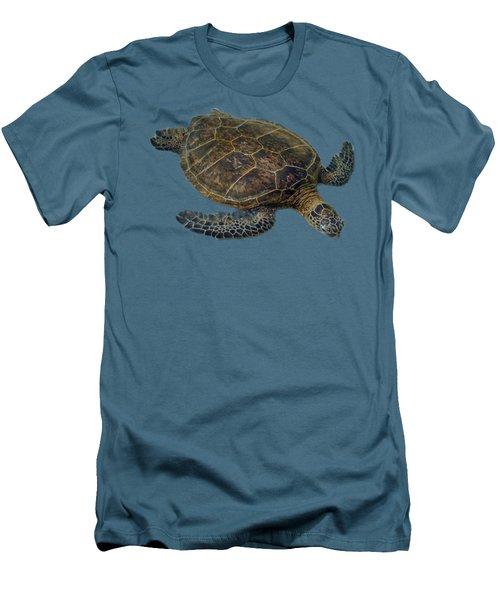 Hawaiian Sea Turtle Men's T-Shirt (Slim Fit) by Pamela Walton