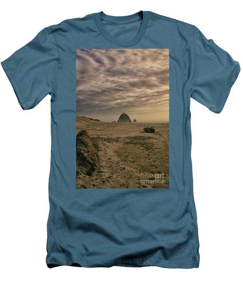 Haystack Rock Men's T-Shirt (Athletic Fit)