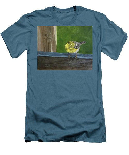 Men's T-Shirt (Slim Fit) featuring the painting Hello by Wendy Shoults