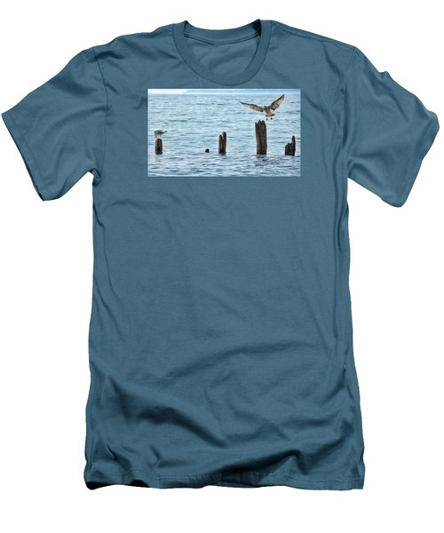 Men's T-Shirt (Slim Fit) featuring the photograph In Flight by Nikki McInnes