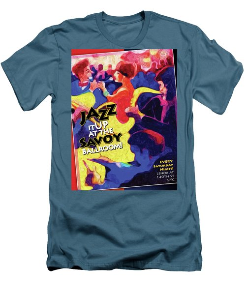 Men's T-Shirt (Slim Fit) featuring the digital art Jazz It Up by Ted Azriel