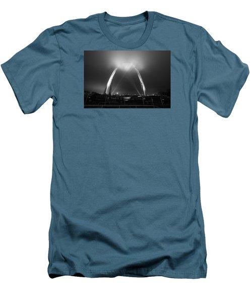 Jefferson Expansion Memorial Gateway Arch Men's T-Shirt (Slim Fit) by Matthew Chapman