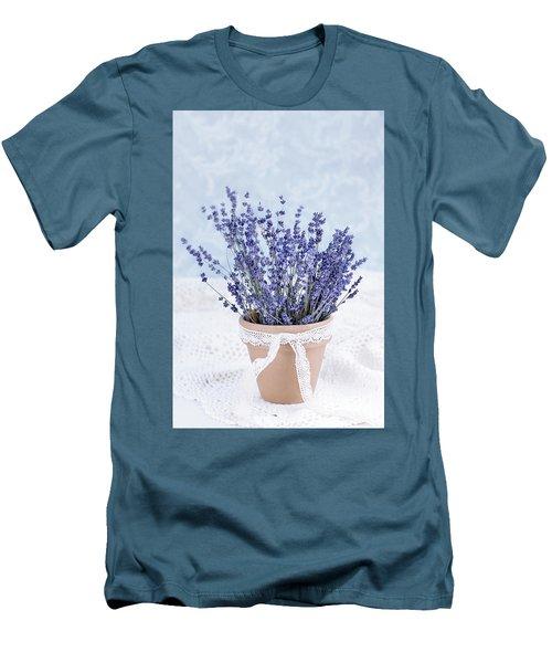 Lavender Men's T-Shirt (Slim Fit) by Stephanie Frey