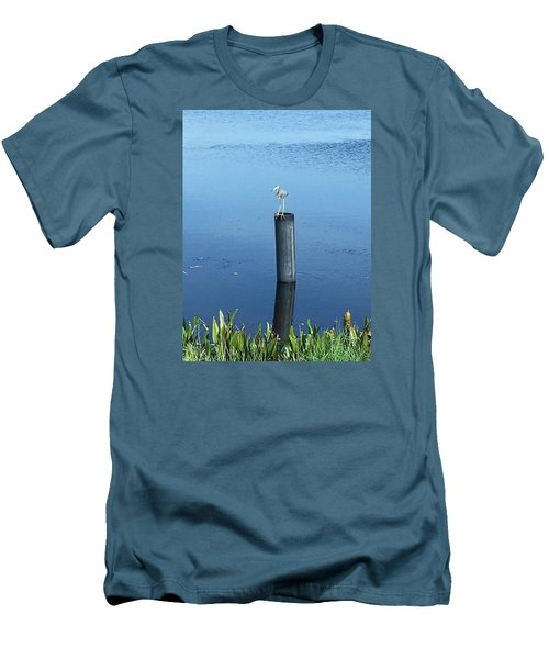 Men's T-Shirt (Slim Fit) featuring the photograph Little Blue Heron by Kay Gilley
