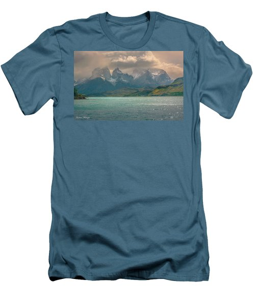 Men's T-Shirt (Slim Fit) featuring the photograph Los Cuernos  by Andrew Matwijec