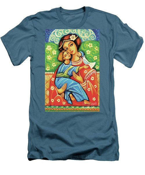 Men's T-Shirt (Slim Fit) featuring the painting Madonna And Child by Eva Campbell