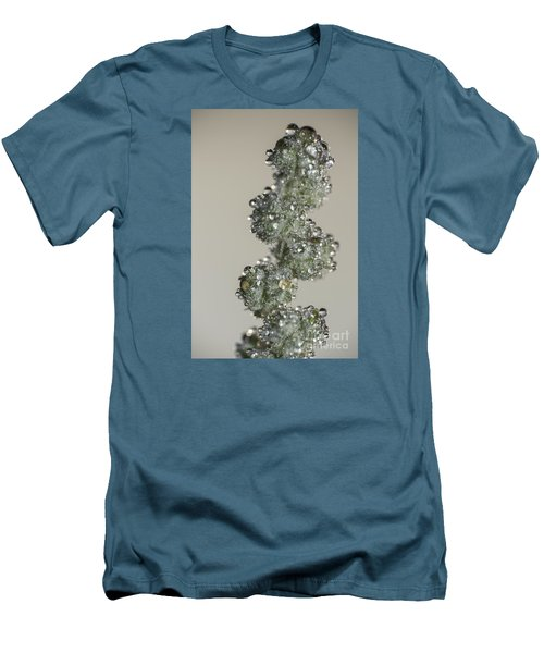 Men's T-Shirt (Slim Fit) featuring the photograph Meadow Flower And Drops by Odon Czintos
