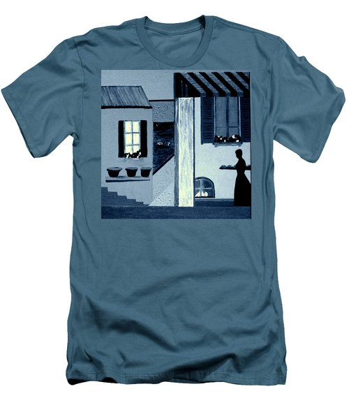 Midnight In Limoux Men's T-Shirt (Slim Fit) by Bill OConnor