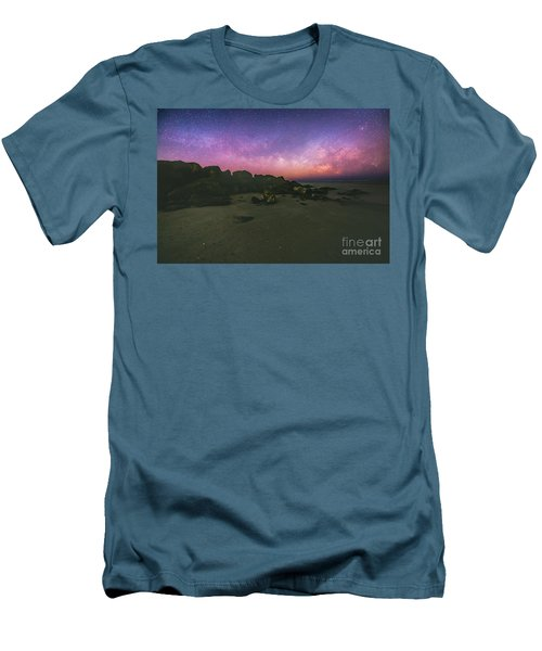 Milky Way Beach Men's T-Shirt (Athletic Fit)