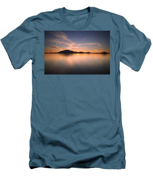 Mountain Sunset Men's T-Shirt (Slim Fit)