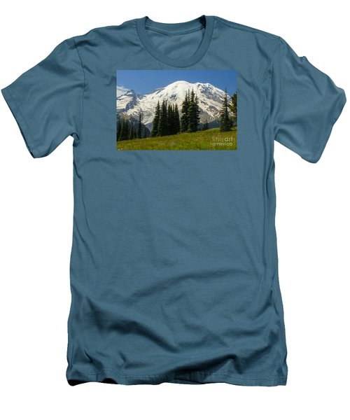 Mt. Rainier Alpine Meadow Men's T-Shirt (Athletic Fit)