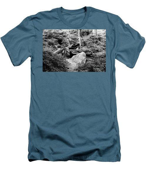 Men's T-Shirt (Athletic Fit) featuring the photograph Native American Caves  by Cole Thompson