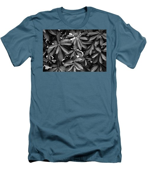 Nature Background, Green Leaves, Flowers In Natural Light And Sh Men's T-Shirt (Slim Fit) by Jingjits Photography