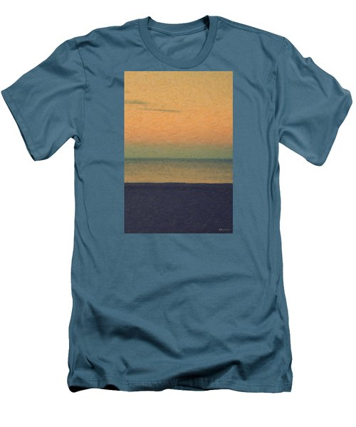 Not Quite Rothko - Breezy Twilight Men's T-Shirt (Slim Fit) by Serge Averbukh