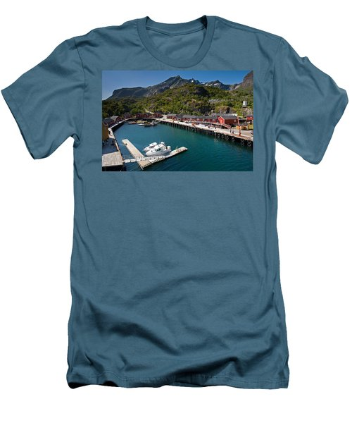 Nusfjord Fishing Village Men's T-Shirt (Athletic Fit)