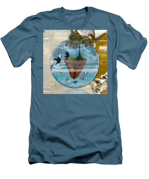 Men's T-Shirt (Athletic Fit) featuring the mixed media Once Upon A Time by Marvin Blaine