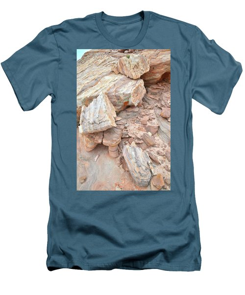 Men's T-Shirt (Slim Fit) featuring the photograph Ornate Sandstone In Valley Of Fire by Ray Mathis