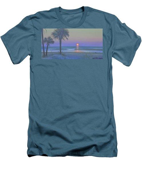 Palmetto Moon Men's T-Shirt (Slim Fit) by Blue Sky