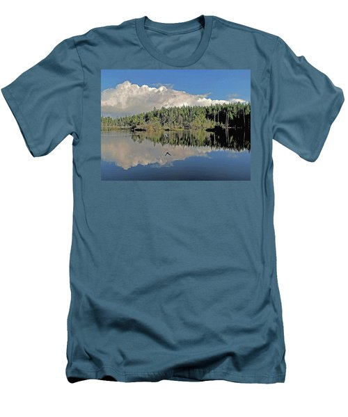 Pause And Reflect Men's T-Shirt (Slim Fit) by Suzy Piatt