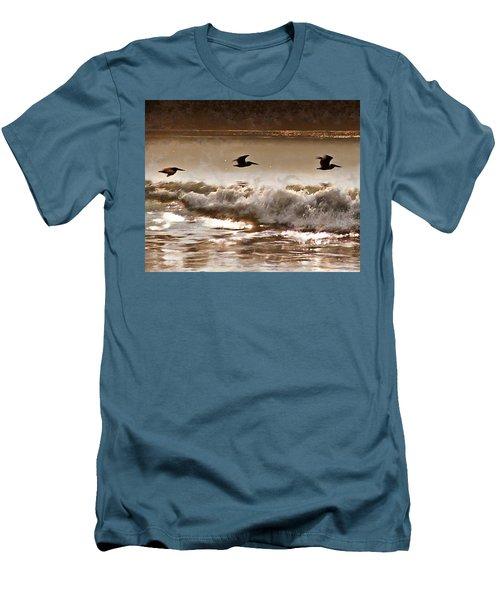 Pelican Patrol Men's T-Shirt (Slim Fit) by Jim Proctor