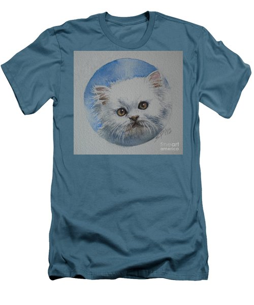 Persian Kitten Men's T-Shirt (Slim Fit) by Sandra Phryce-Jones