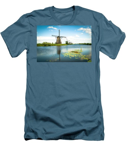 Men's T-Shirt (Slim Fit) featuring the photograph Picturesque Kinderdijk by Hannes Cmarits