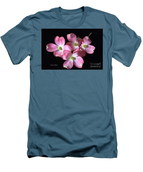 Pink Dogwood Branch Men's T-Shirt (Slim Fit) by Jeannie Rhode