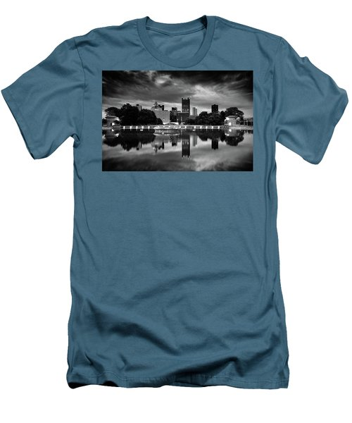 Pittsburgh  Reflections  Men's T-Shirt (Slim Fit) by Emmanuel Panagiotakis