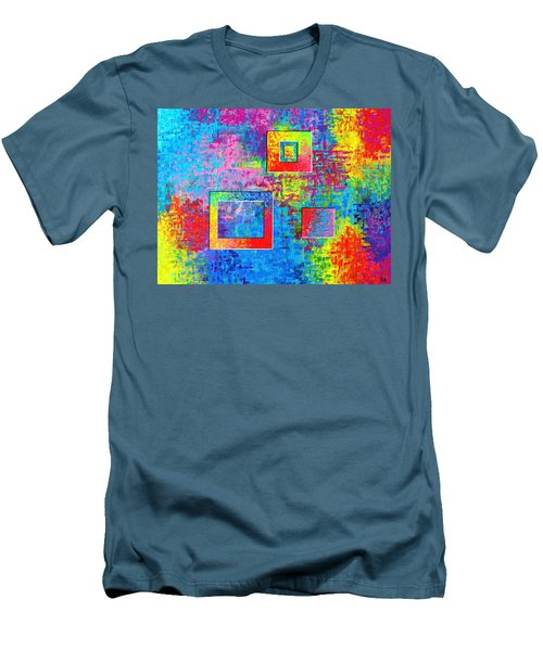 Portals Of Color Men's T-Shirt (Slim Fit) by Jeremy Aiyadurai