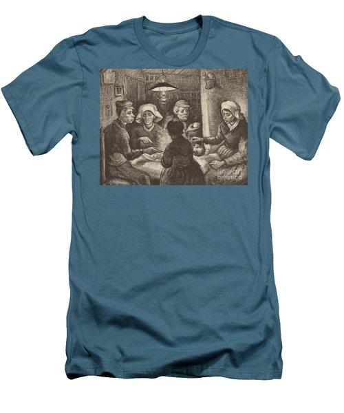 Potato Eaters, 1885 Men's T-Shirt (Slim Fit) by Vincent Van Gogh