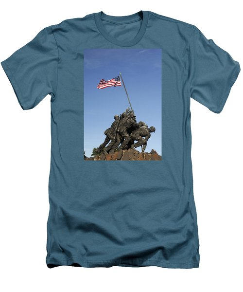 Raising The Flag On Iwo - 799 Men's T-Shirt (Slim Fit) by Paul W Faust -  Impressions of Light