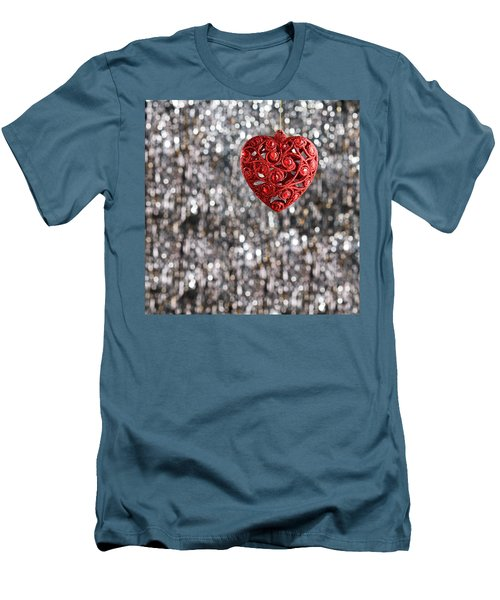 Men's T-Shirt (Slim Fit) featuring the photograph Red Heart by Ulrich Schade