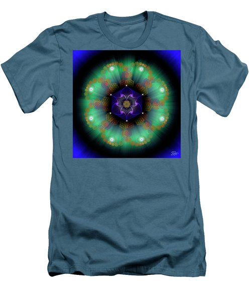 Sacred Geometry 638 Men's T-Shirt (Slim Fit) by Endre Balogh