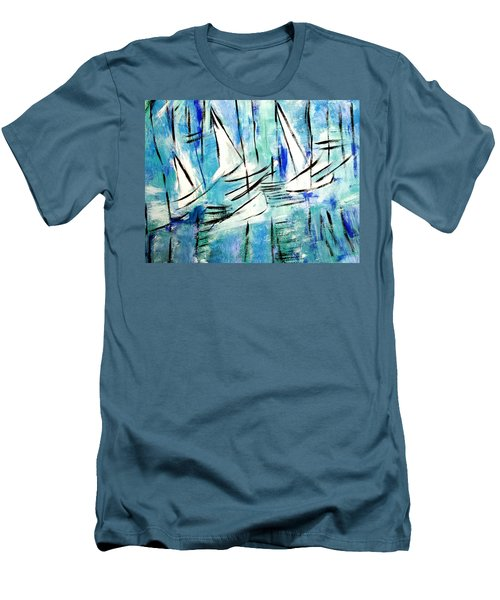 Sailing Blue Men's T-Shirt (Athletic Fit)