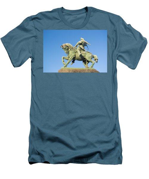 Men's T-Shirt (Slim Fit) featuring the photograph Salavat Yulaev Ufa Russian Hero by John Williams