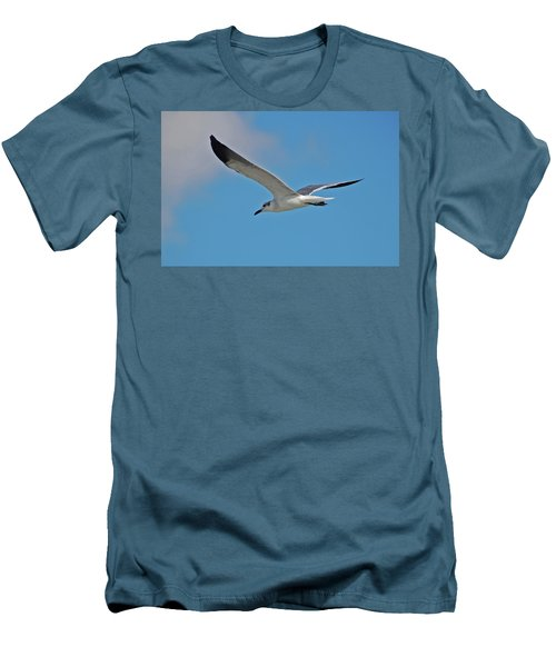 Men's T-Shirt (Slim Fit) featuring the photograph 1- Seagull by Joseph Keane