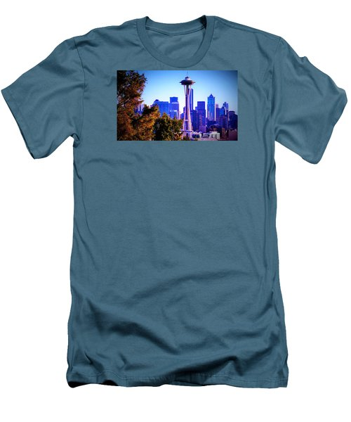 Seattle Afternoon Men's T-Shirt (Slim Fit) by Martin Cline