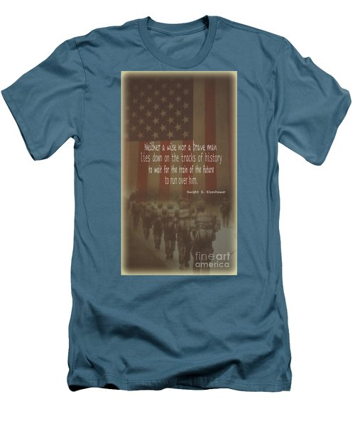Men's T-Shirt (Slim Fit) featuring the photograph Serving Our Country by Debby Pueschel