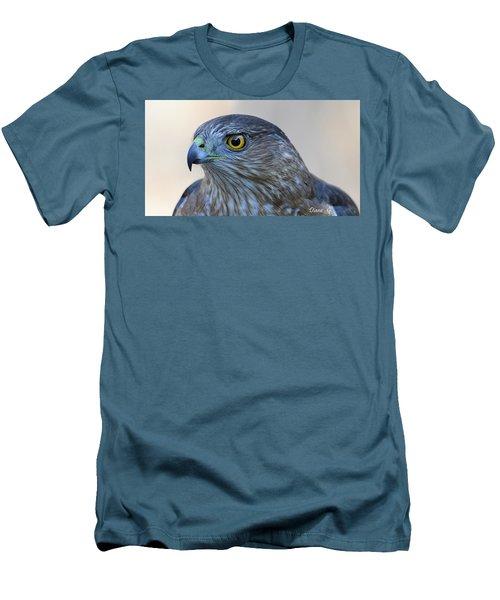 Sharp-shinned Hawk Men's T-Shirt (Slim Fit) by Diane Giurco