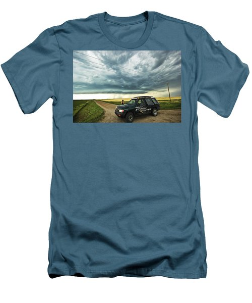 Men's T-Shirt (Slim Fit) featuring the photograph Shelf Cloud Near Vibank Sk. by Ryan Crouse