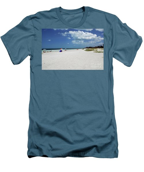 Men's T-Shirt (Athletic Fit) featuring the photograph Siesta Key Beach by Gary Wonning