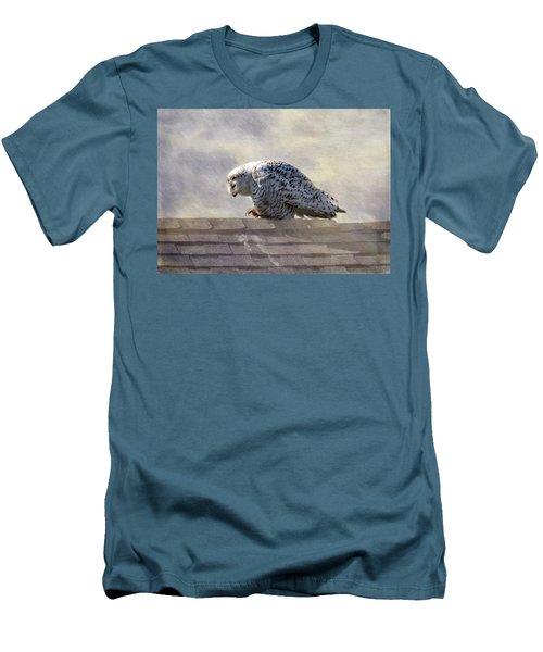 Snowy Owl  Men's T-Shirt (Slim Fit) by Betty Pauwels