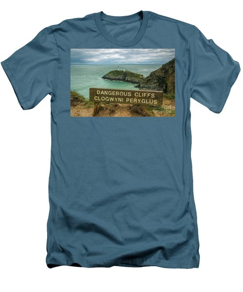 Men's T-Shirt (Slim Fit) featuring the photograph South Stack Lighthouse by Ian Mitchell