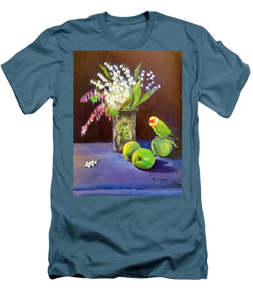 Still Life Men's T-Shirt (Slim Fit) by Rose Wang