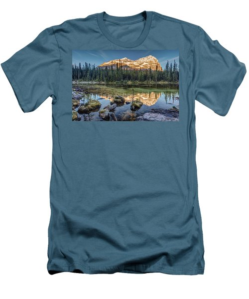 Sunrise In The Rocky Mountains Men's T-Shirt (Slim Fit) by Pierre Leclerc Photography