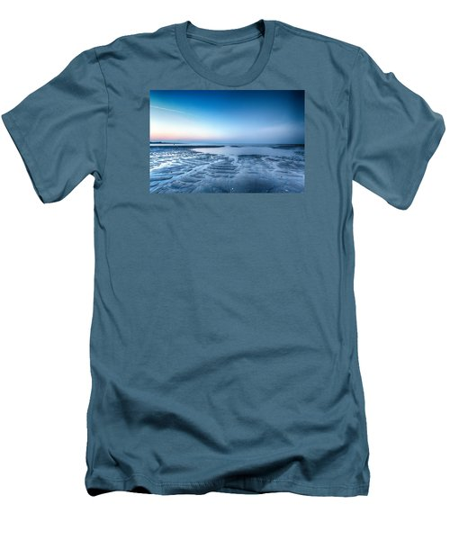 Men's T-Shirt (Slim Fit) featuring the photograph Blue Sunrise by Alan Raasch