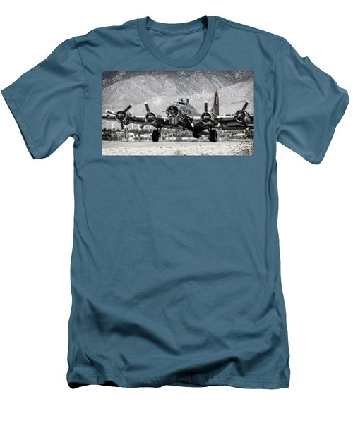 B-17 Bomber Madras Maiden  Men's T-Shirt (Athletic Fit)