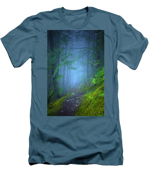 Men's T-Shirt (Slim Fit) featuring the photograph The Forest Blues by Tara Turner