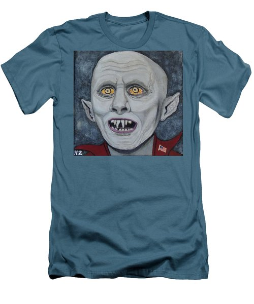 Men's T-Shirt (Slim Fit) featuring the painting The Politician. by Ken Zabel